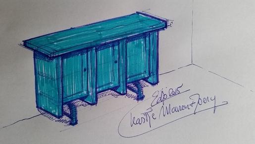 Edjo.nl | Schetsje blauwe kast